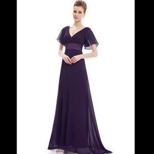 Long Empire Waist Dress
